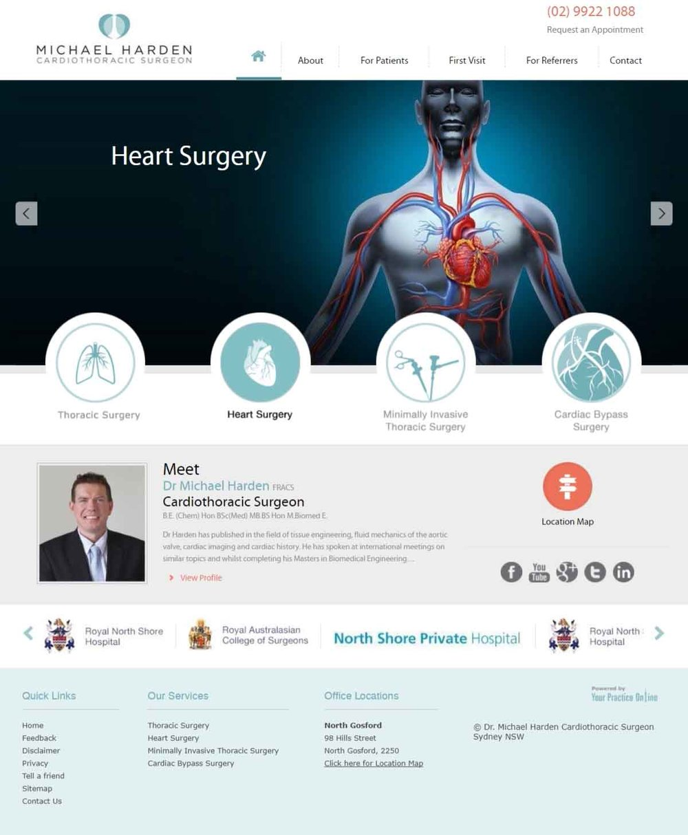Cardiac Surgeon Website Sydney