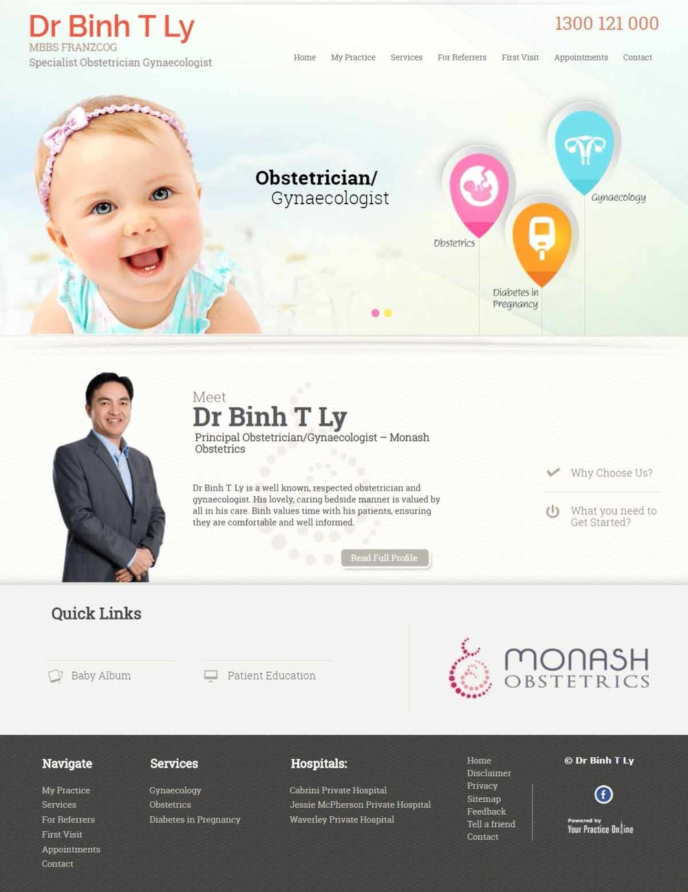 Specialist Obstetrician Gynaecologist Website Melbourne