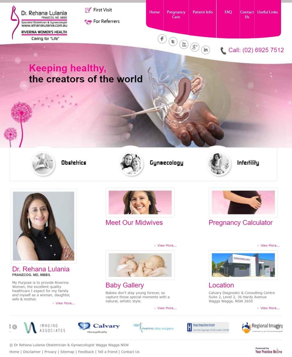 Obstetrician Gynaecologist Specialist Website