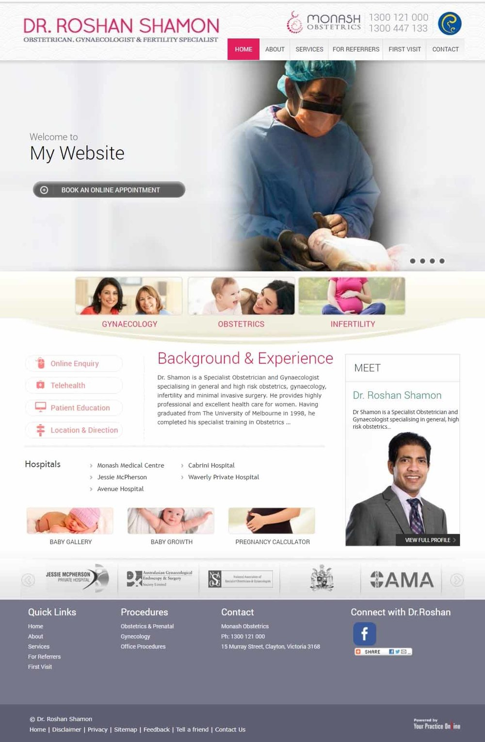 Obstetrician Gynaecologist & Fertility Specialist Website