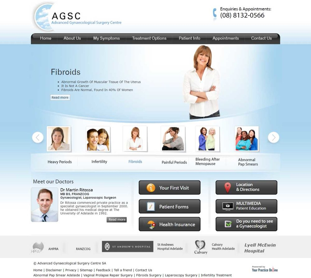 Adelaide Gynaecological Surgeons Website