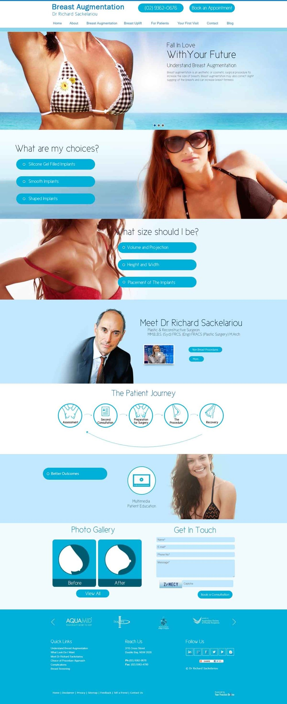 Sydney Plastic & Reconstructive Surgeon Website