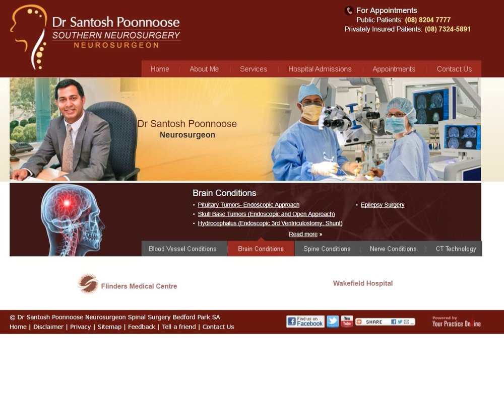 Neurosurgeon Website Adelaide