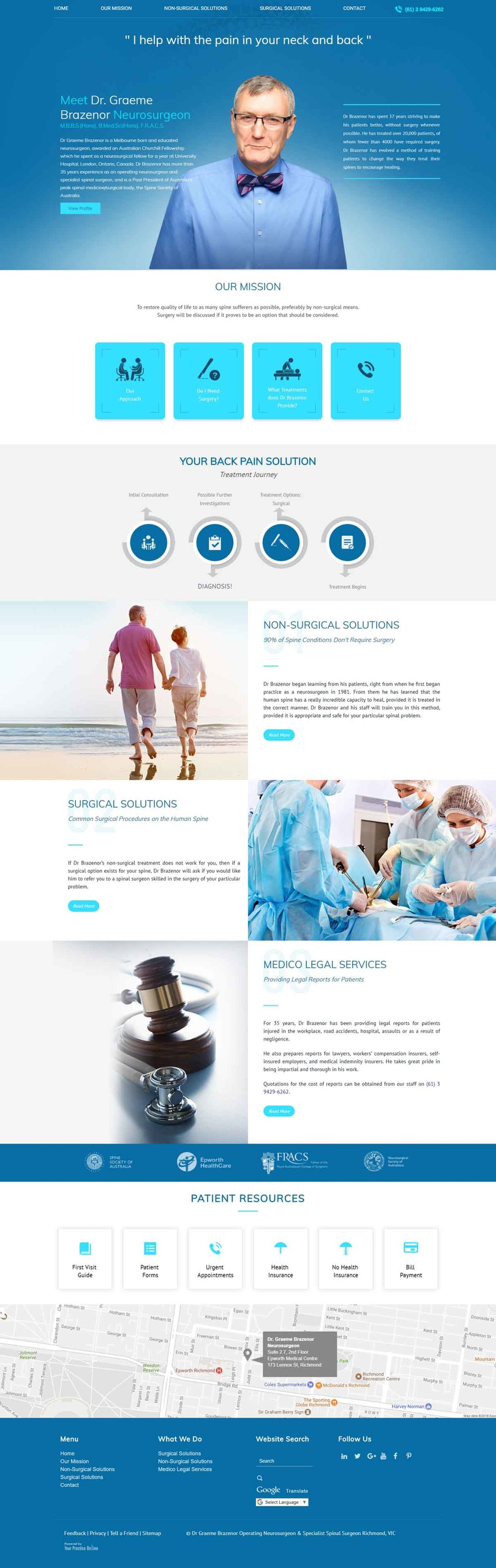 Melbourne Neurosurgeon Website