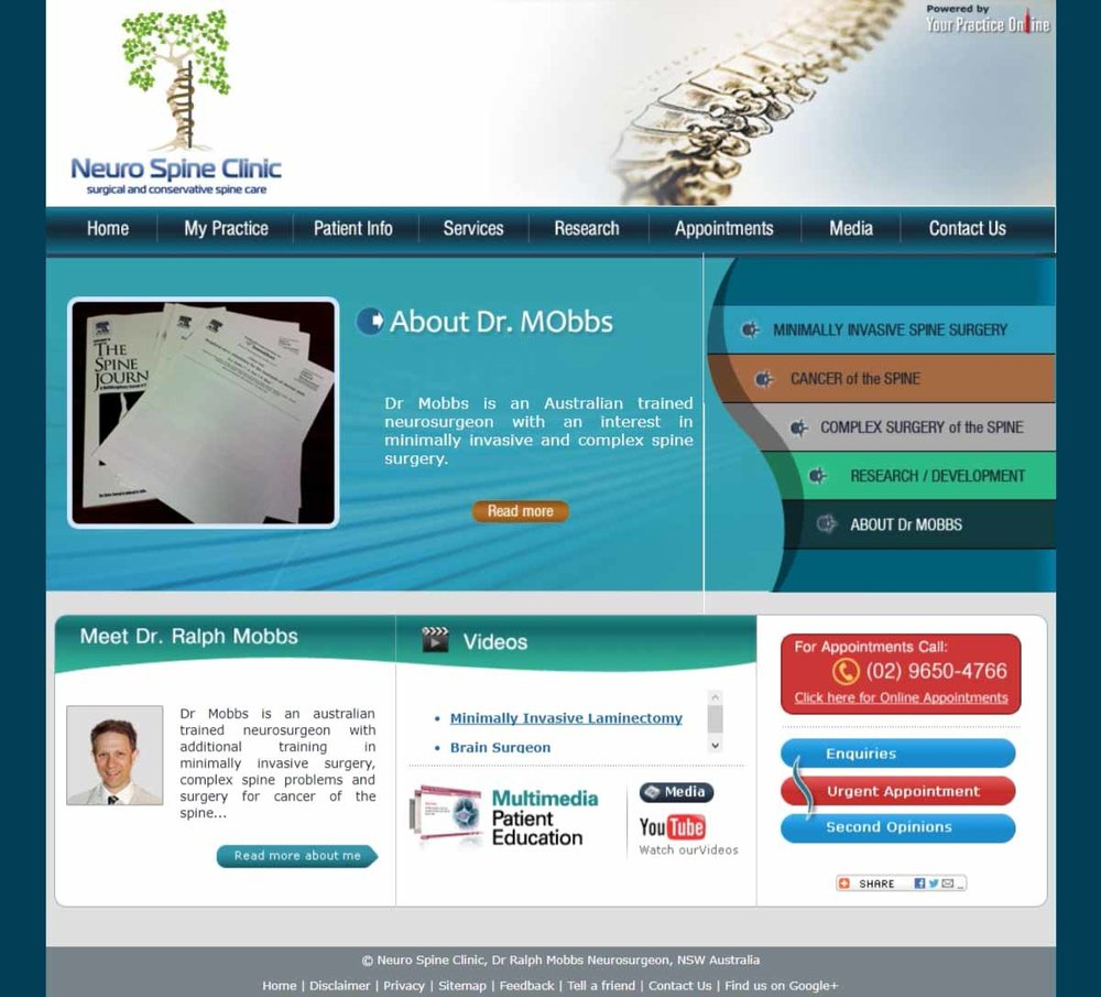 Spine Neurosurgeon Website Australia