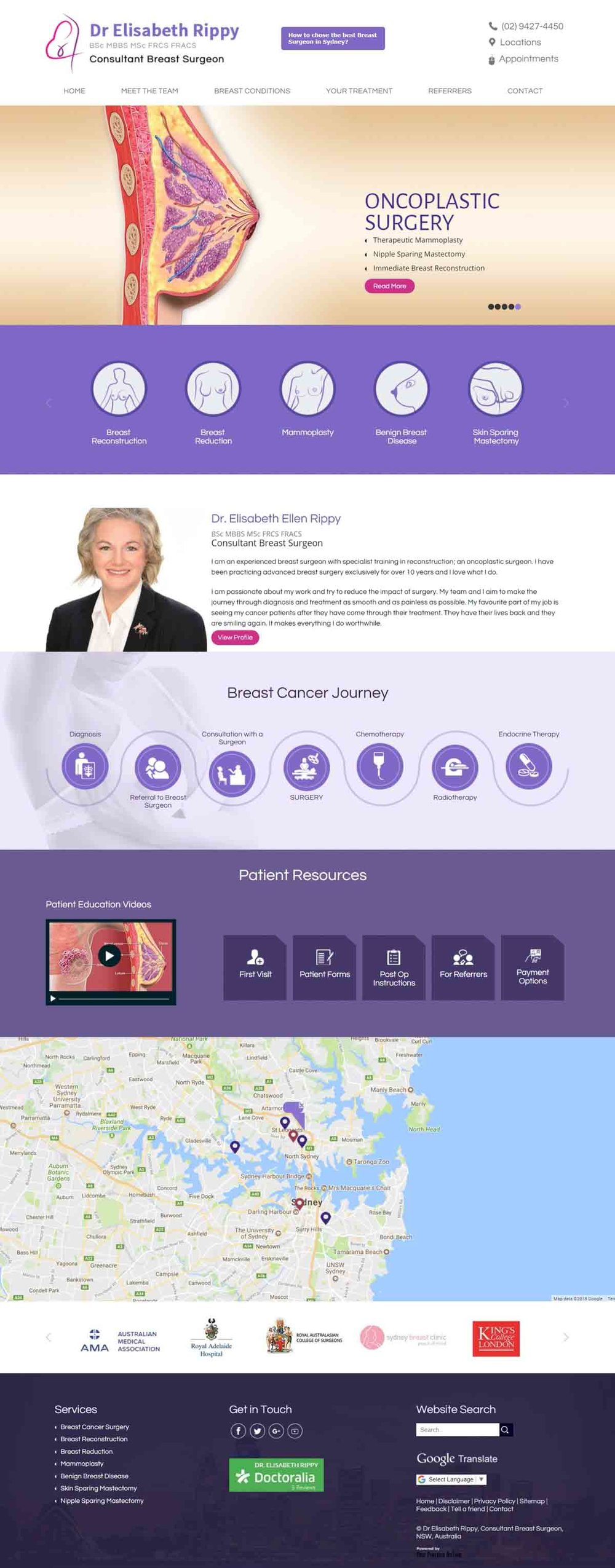 Sydney Breast Cancer Surgeon Website