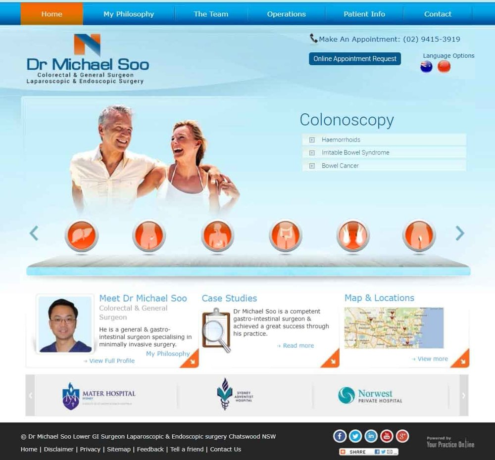 Sydney Colorectal & General Surgeon Website