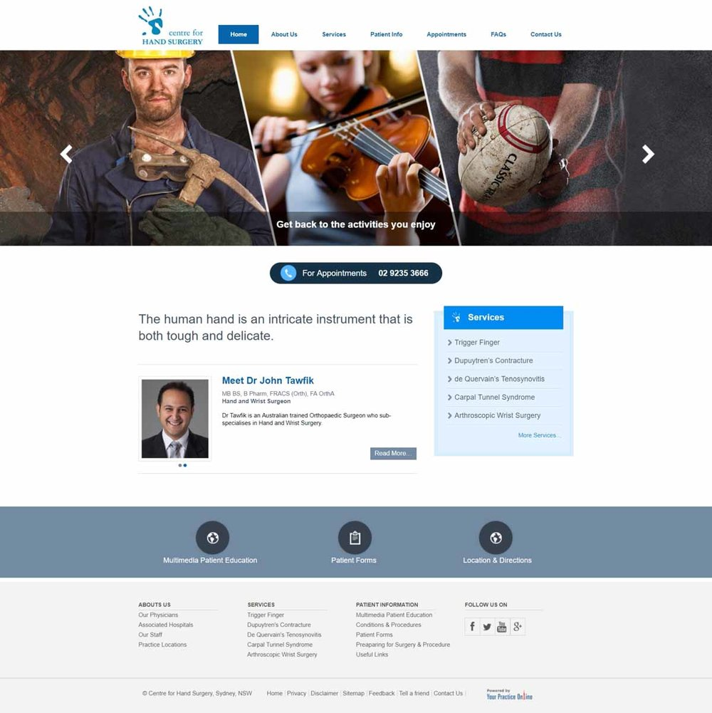 Sydney Orthopaedic Hand Surgeons Website