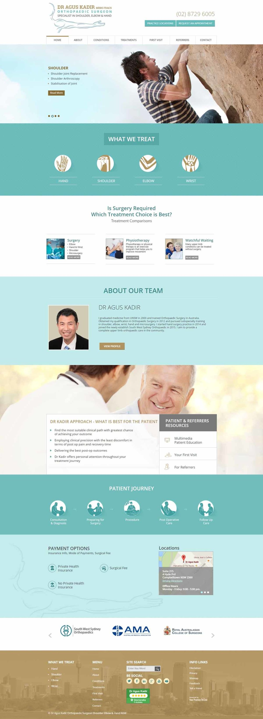 Orthopaedic Surgeon Shoulder, Hand, Elbow Specialist Website