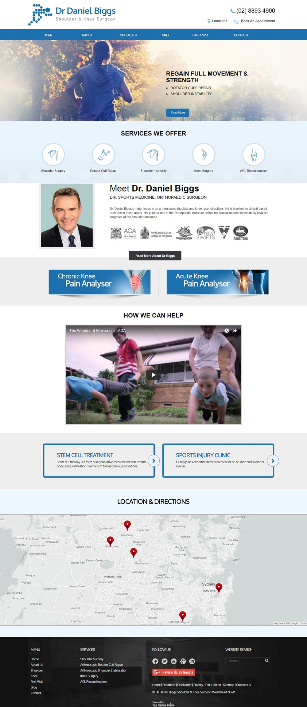 Sydney Shoulder & Knee Orthopaedic Surgeon Website