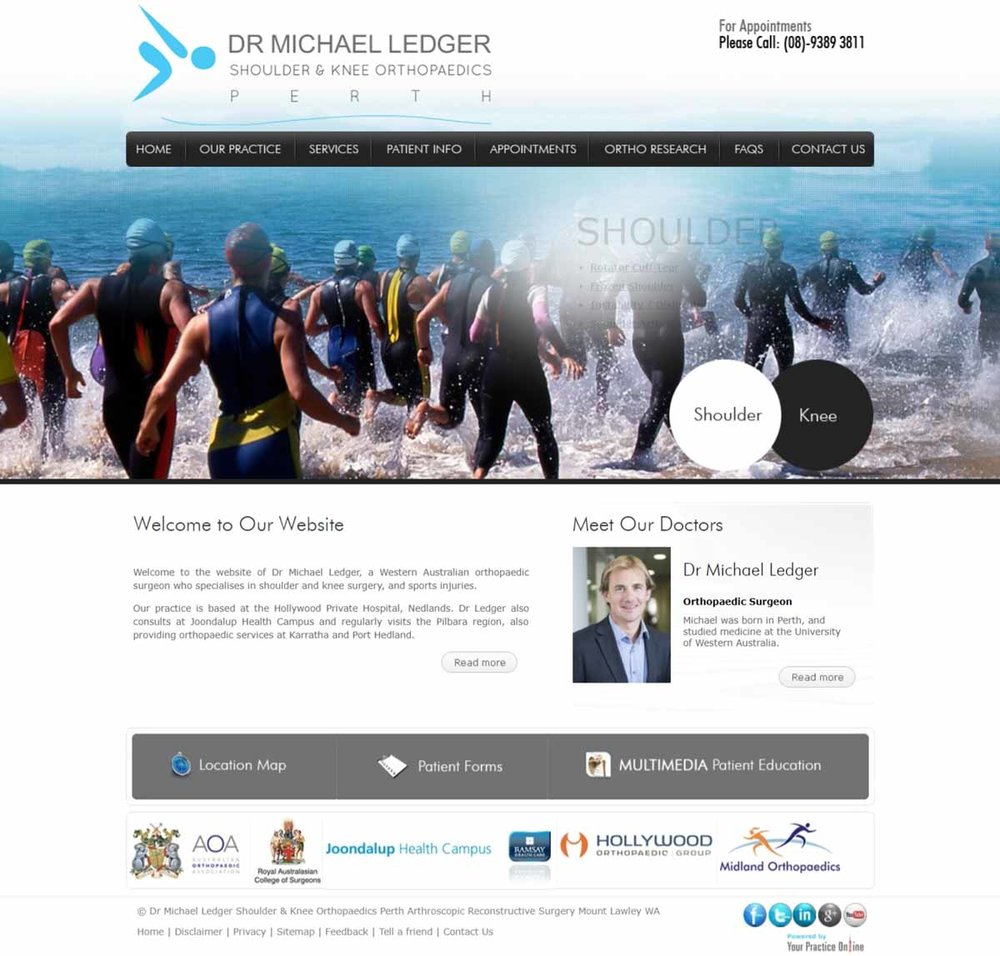 Perth Shoulder & Knee Orthopaedic Surgery Website