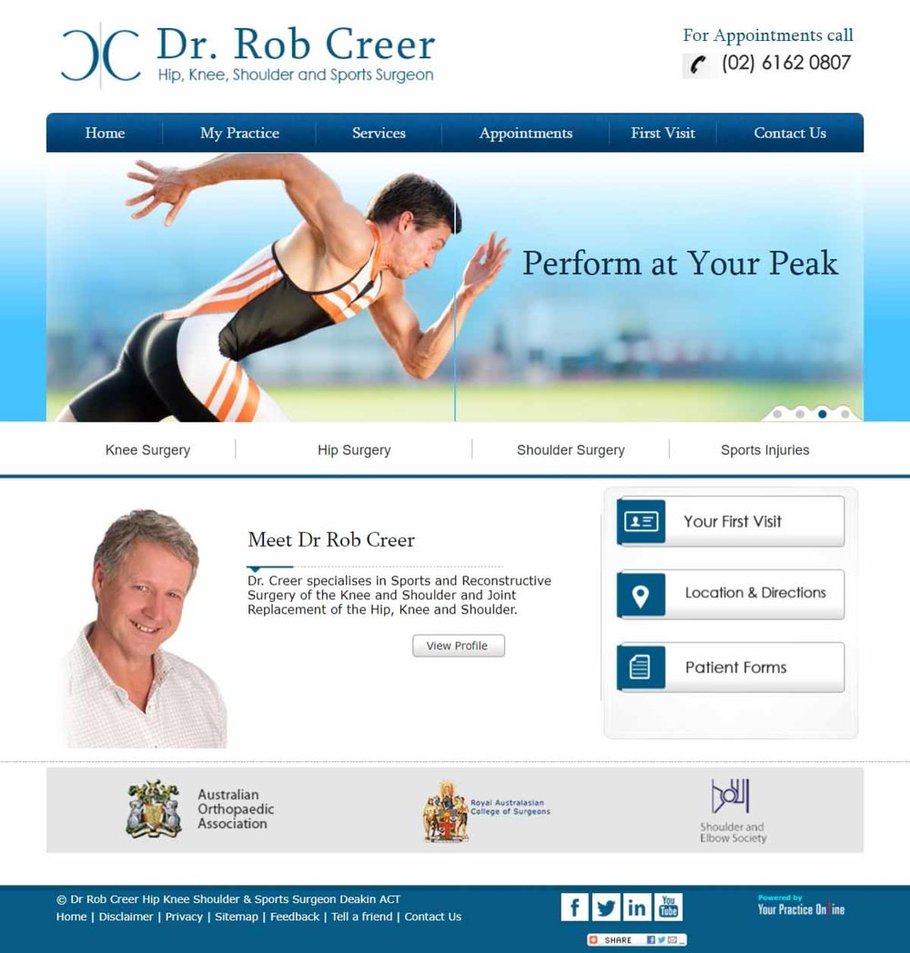 Orthopaedic Shoulder Sports Surgeon Website