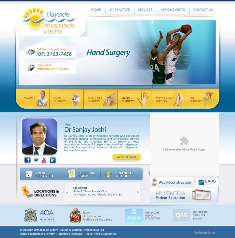 Brisbane Orthopaedic Surgery Website