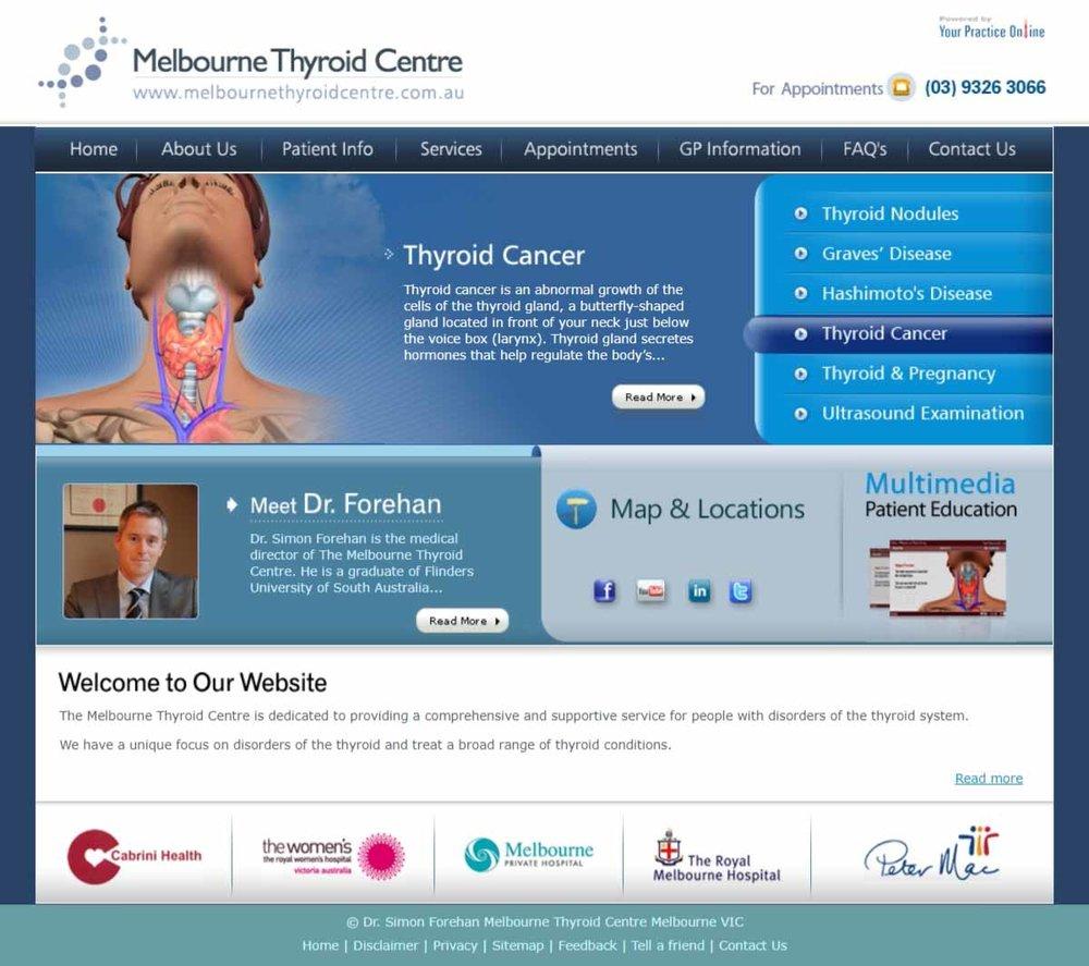 Melbourne Thyroid & General Surgery Website