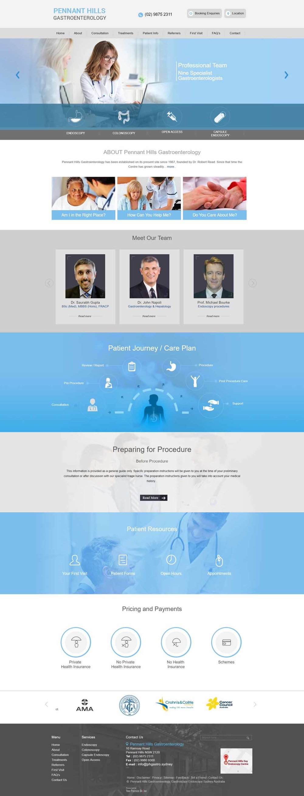 Sydney Gastroenterology General Surgeons Website