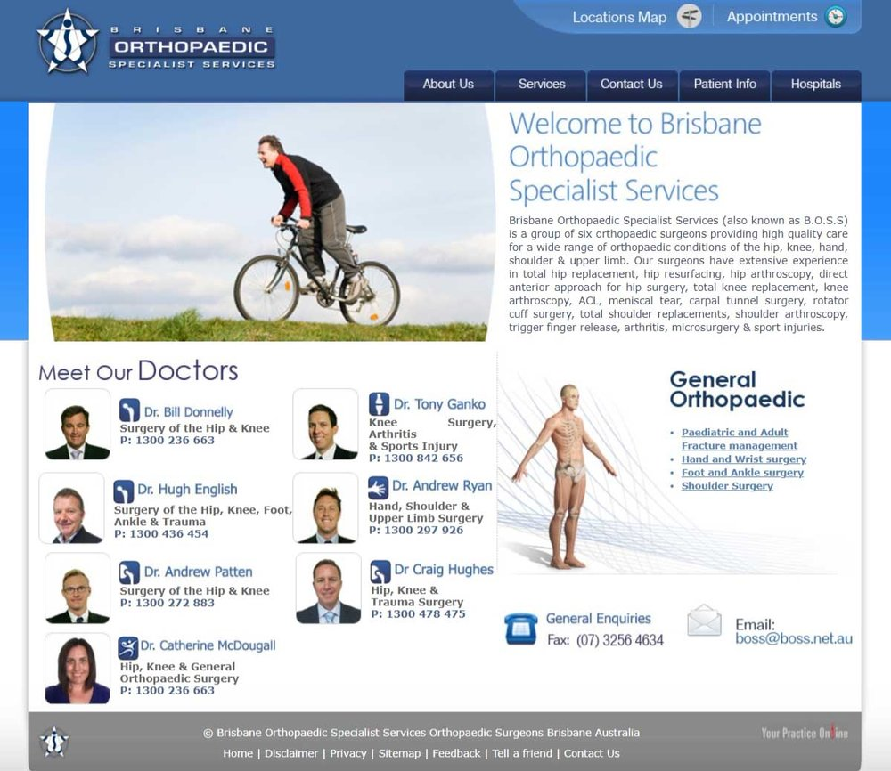 Orthopaedic Specialists Website Brisbane