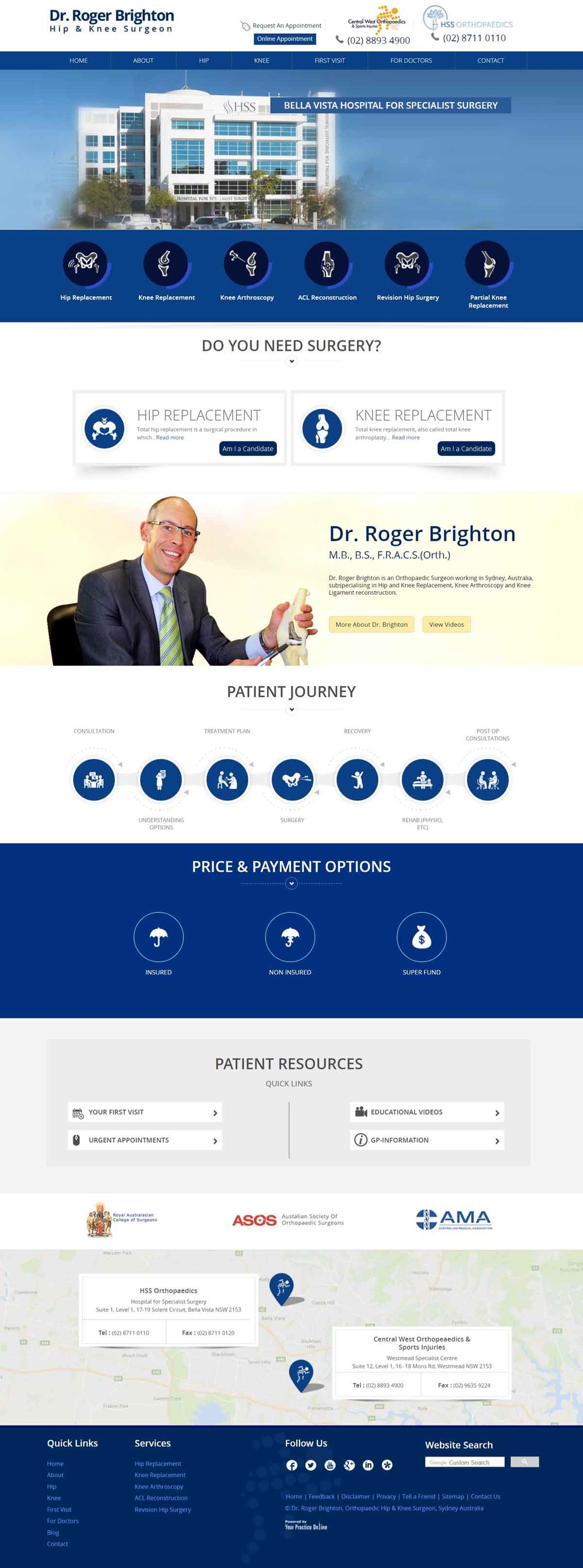 Hip & Knee Orthopaedic Surgeon Website Sydney