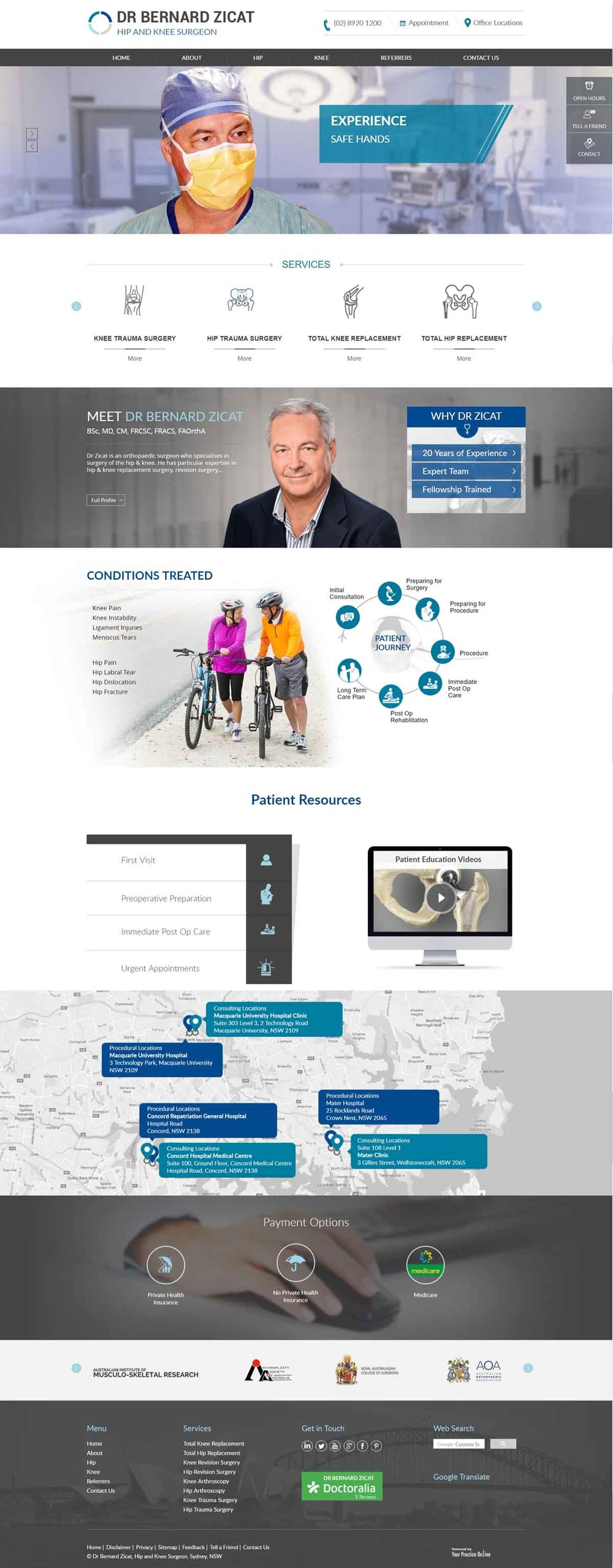 Sydney Hip & Knee Surgeon Website