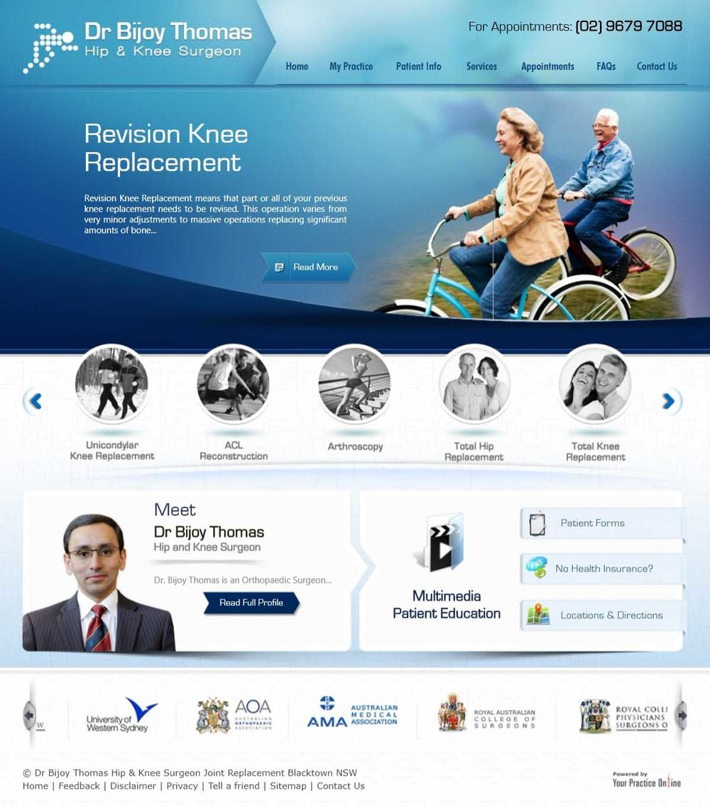 Hip & Knee Orthopaedic Surgeon Website