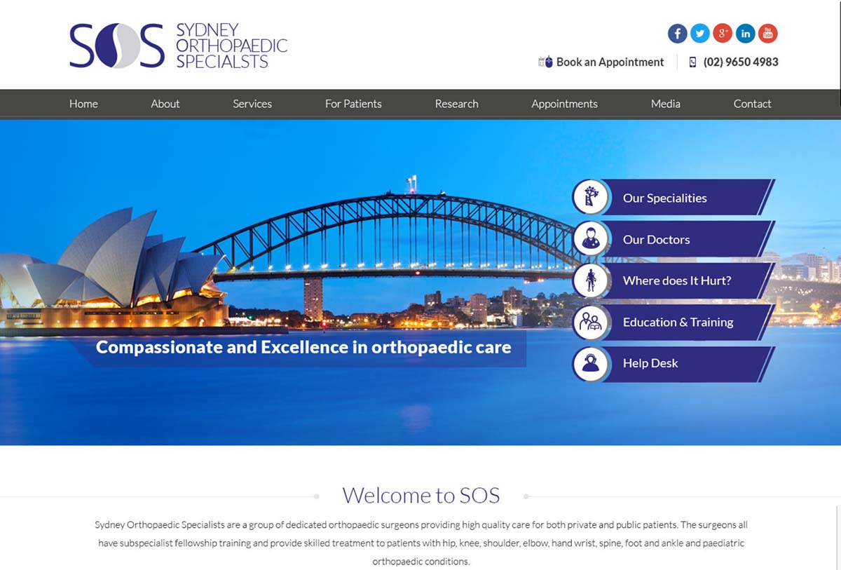 Sydney Orthopaedic Specialists Website Redesign - Medical Marketing Blog