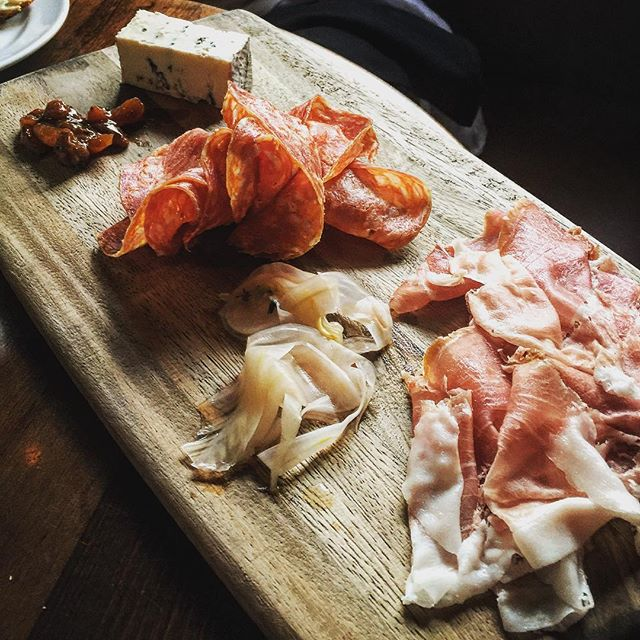 Yummy #charcuterie at a fav of mine in #atlanta #eccorestaurant. The fried orca is #special too.