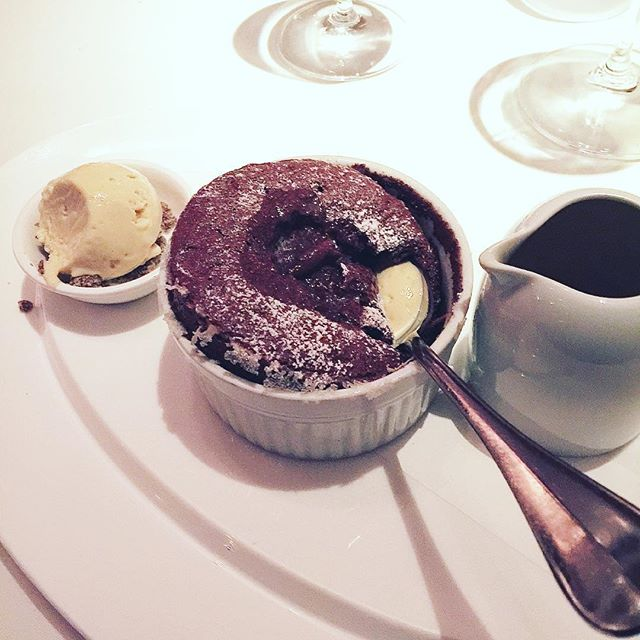 Chocolate soufflé at an amazing restaurant. #dovetail on the upper west side. #nyc  #chocolate #desserts