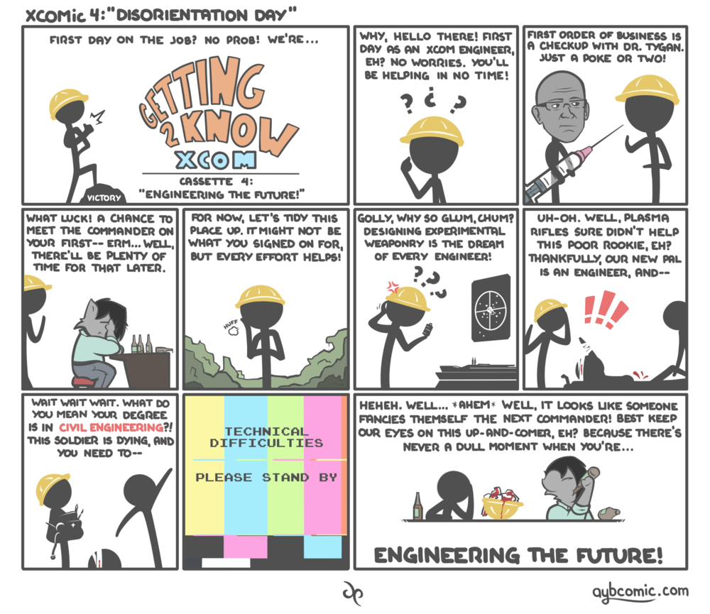 XCOMic 4 - Engineer's First Day.png