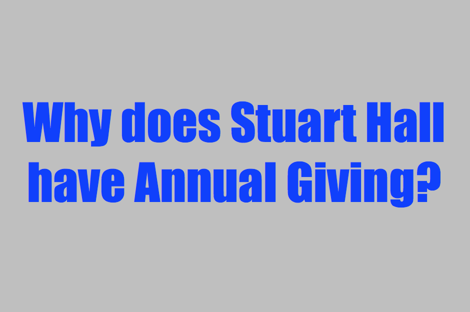 "The cost of the quality education that Stuart Hall provides each student is not completely covered by tuition. Annual Giving subsidizes tuition and helps fill the ""GAP"" between tuition income and the actual cost of educating each boy. Annual Giving is an annual campaign whose success is dependent upon the voluntary contributions of parents, alumni, faculty and staff, grandparents, parents of alumni and friends."