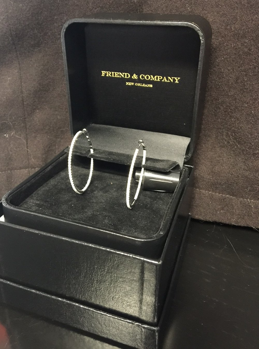 Diamond Hoops from Friend and Company