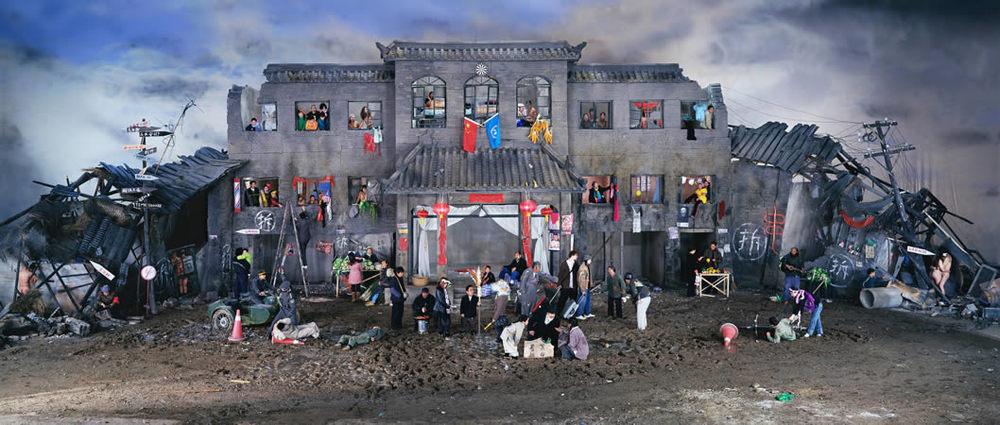 Dream of Migrants, 170x400cm, 2005
