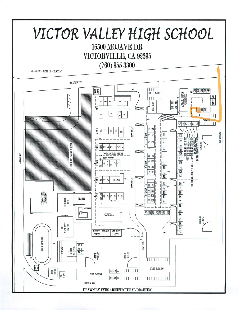 Our Victor Valley High School Summer Senior Portrait Location is in the upper staff room on the Victor Valley High School Campus.  Parents can park next to the building the the gate.  The room is not numbered, but it it was, it would be Room 190.