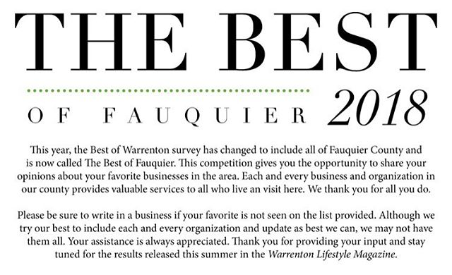 """Happy Sunday everyone! If you're local, you know it's the time of year again to decide who is the best of the best this year in Fauquier! Even if you're not local to us, you're still our customers and family, so it would mean a lot if you could go to the link in our bio and vote for Simply Pure!!! We are under """"Shopping"""" -  """"Unique Gifts"""" Remember to vote for our sister company Iva Bella Salon in the services section!  Thank you so much!! Best of luck to all the other participants! 🍀 . . . #allnatural #handmade #allnatural #coldprocesssoap #ecofriendlypackaging #warrenton #bestoffauquier #piedmontlife #piedmontlifestylemagazine #shoplocal #shopsmall #locavore #smallbusiness #pleasevote #womanowned #womanownedbusiness #haircare #skincare #tellyourfriends #localbusiness #followus #dailypost #warrenton #coconutoil #essentialoils #crueltyfree #sustainable"""
