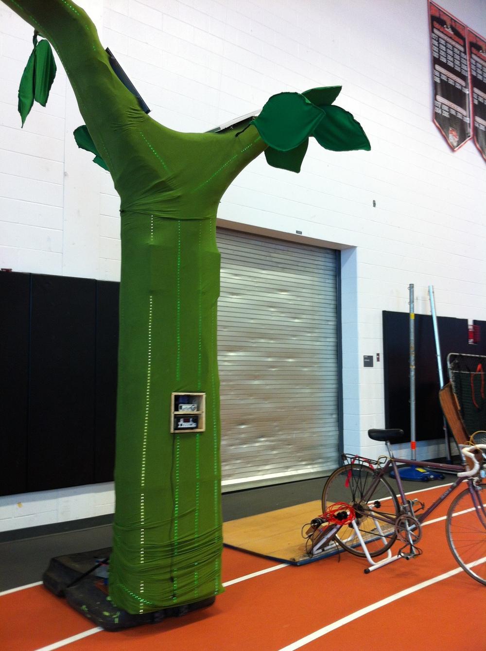 Solar Phone Charging Tree
