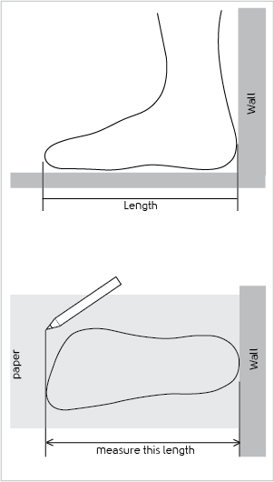 foot measure chart