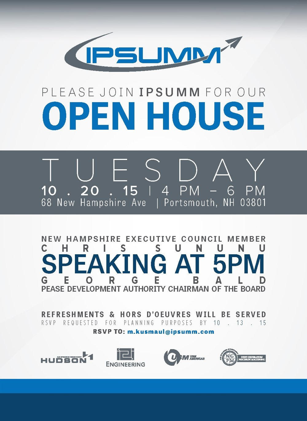 IPSUMM Open House Invitation