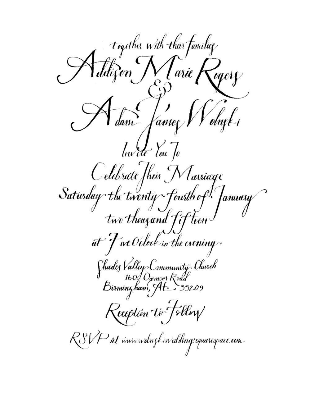 wedding invitation for my incredible brother and new treasured sister.