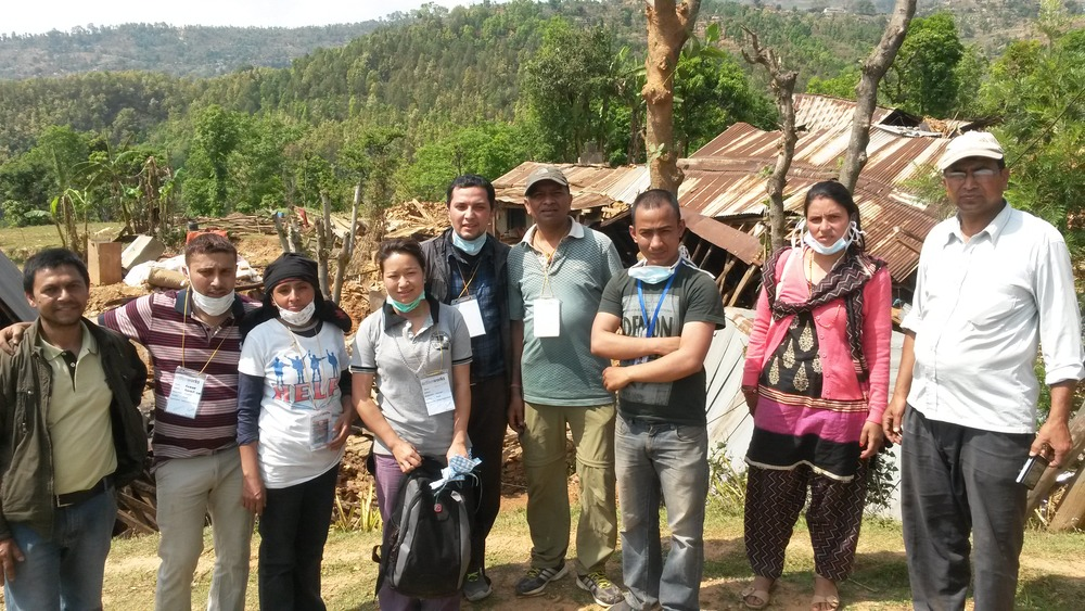 relief Team at sipapokhari Vdc - 1, bhandarithok