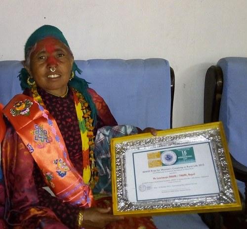 Laurimaya Thami after receiving award