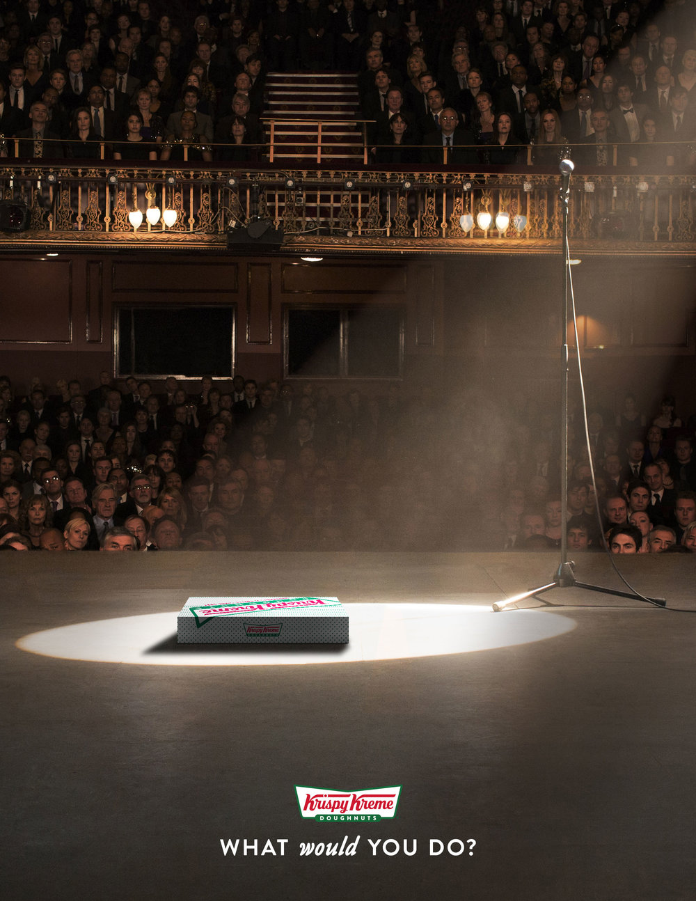 Would you step out onto a stage with an audience staring at you for a doughnut?