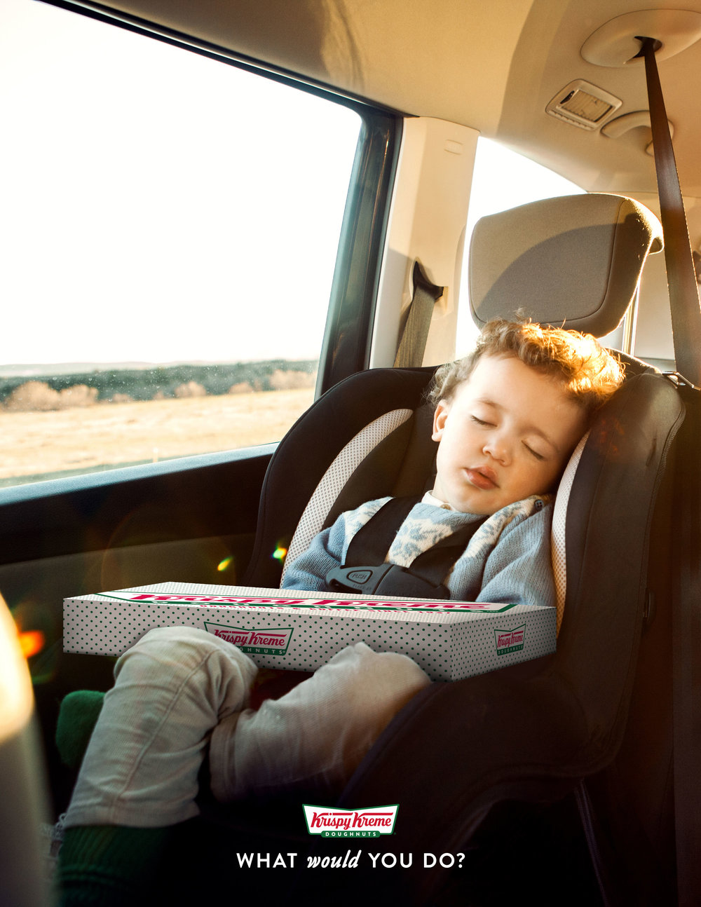 Would you risk waking a sleeping child for a doughnut?