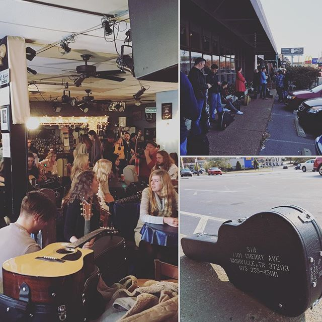 sixty five people chasing the same dream. couldn't think of a better way to spend a sunday morning. thanks @bluebirdcafetn  #nashville #bluebird #audition #songwriters