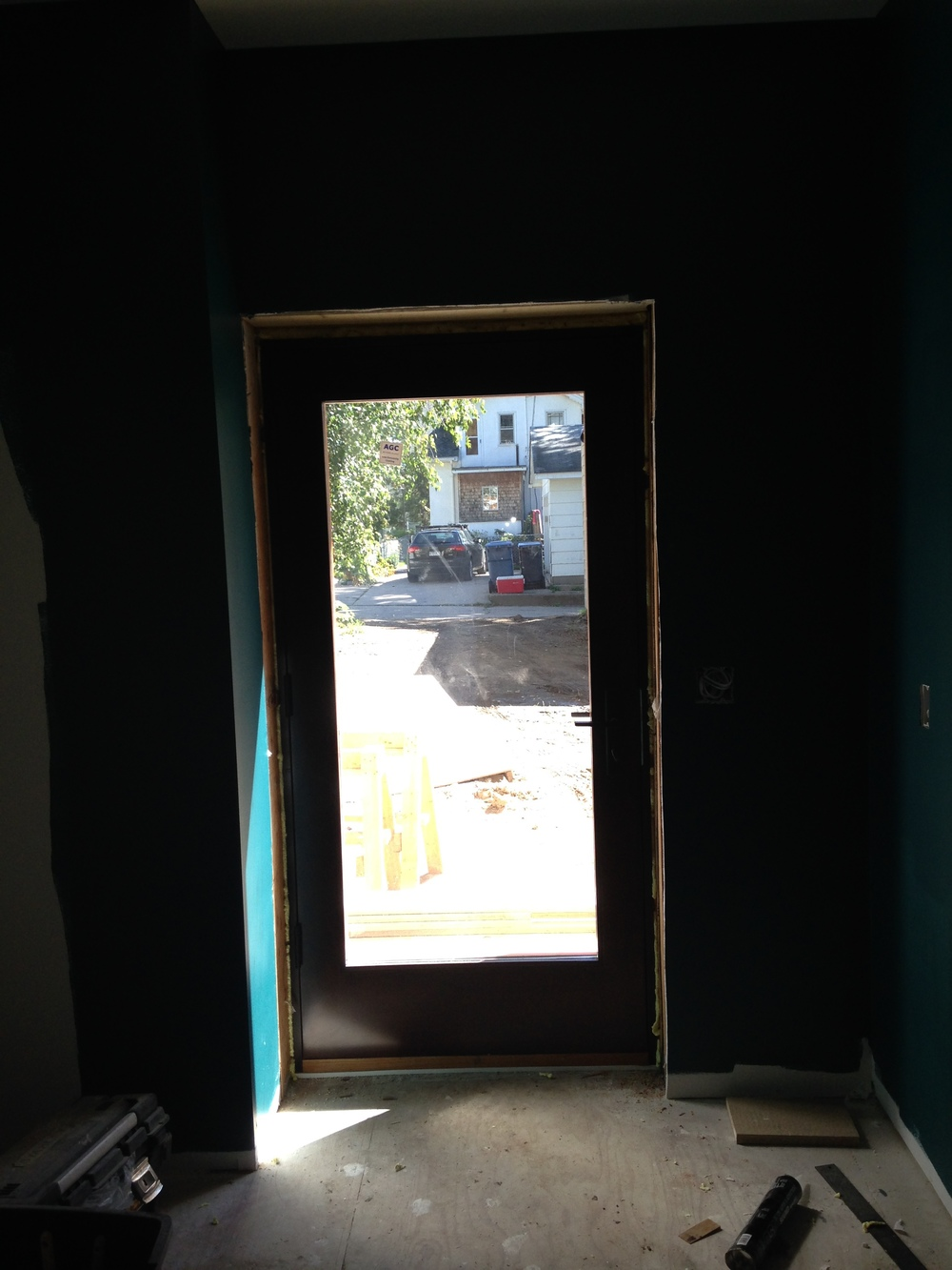 Looking out from the mudroom