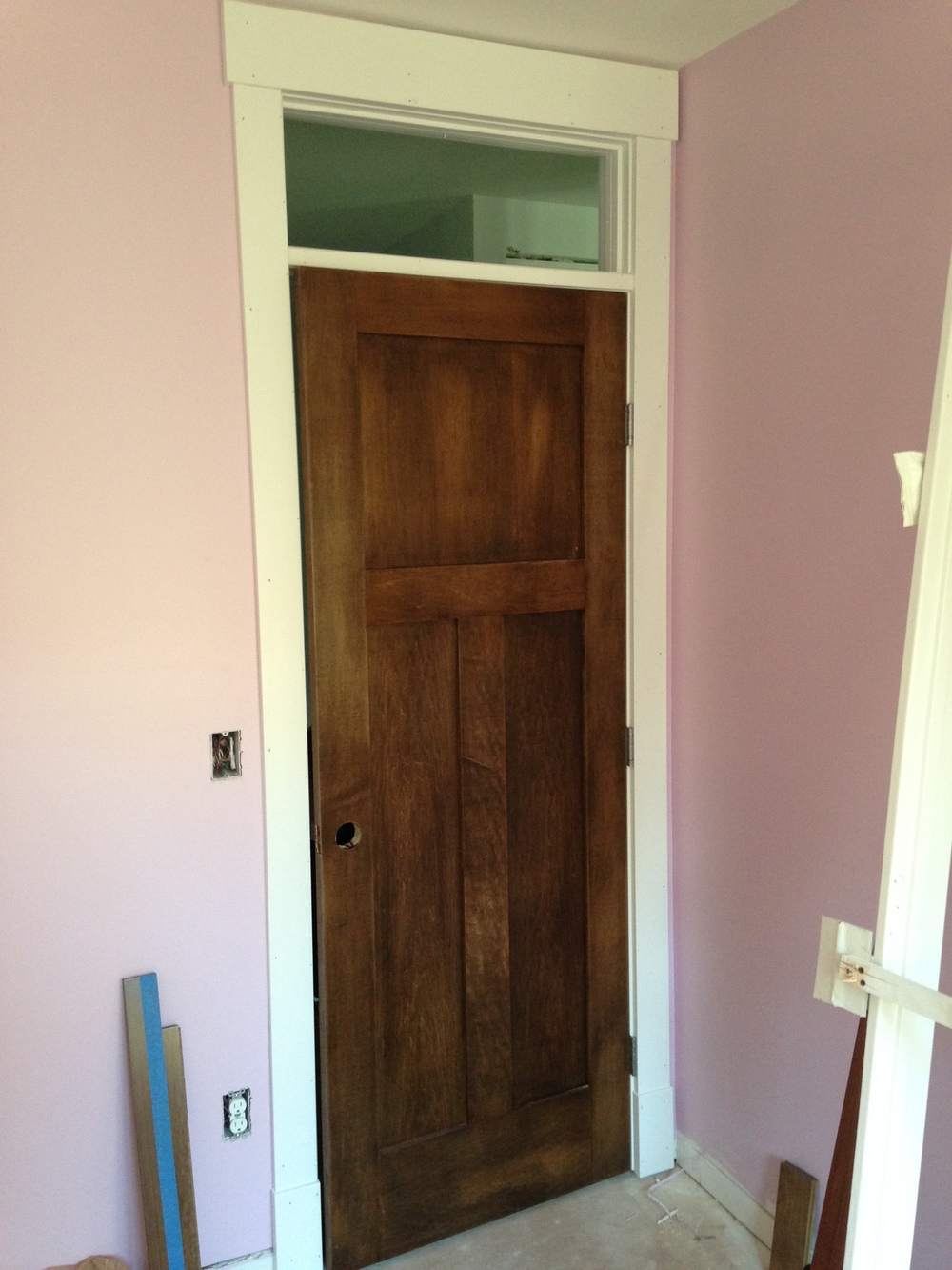 The nursery with the new door and trim!