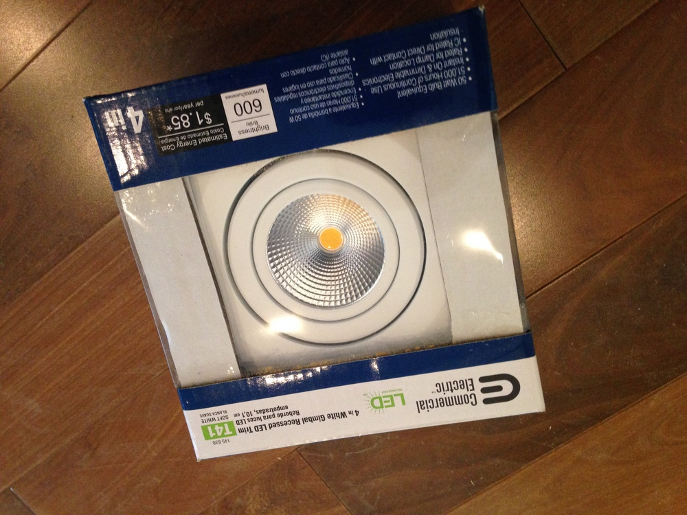 The recessed LED lights that we're using in our home.
