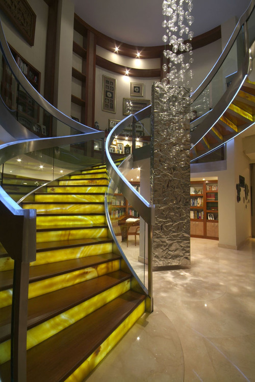 Honey Onyx Staircase