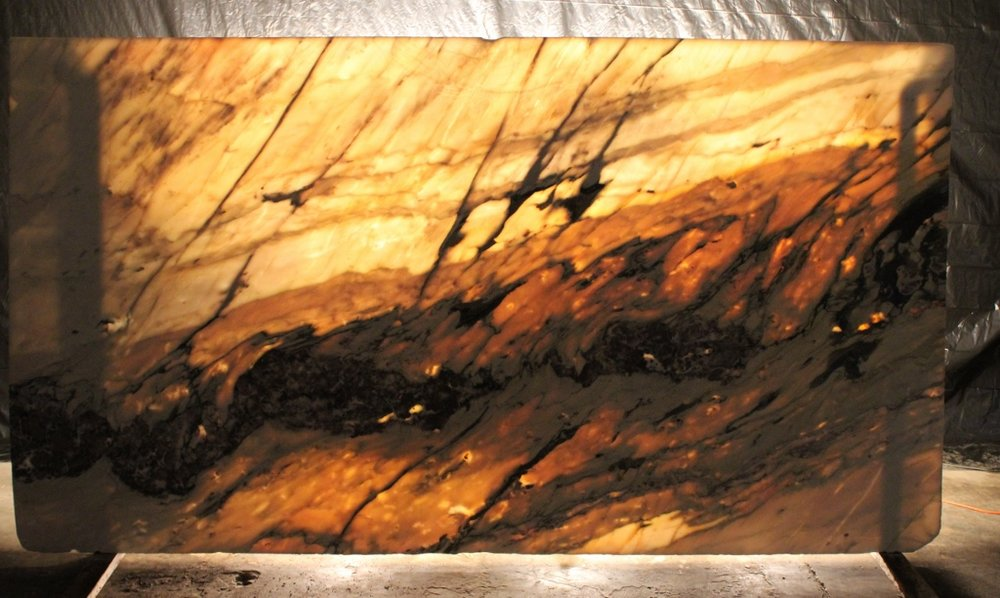 Onyx Fior di pesco Apvano - Backlit