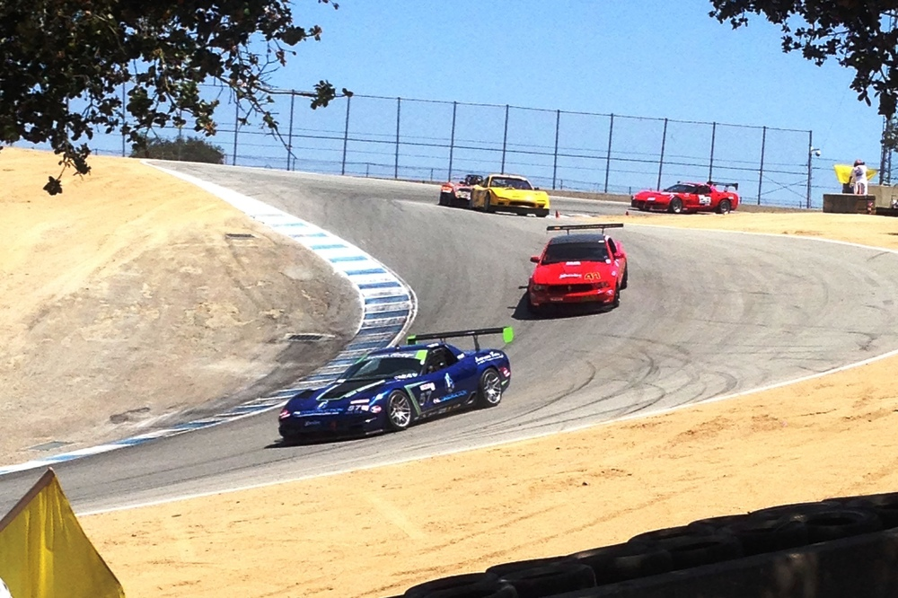 The PA Construction Corvette dropping down the world famous corkscrew.