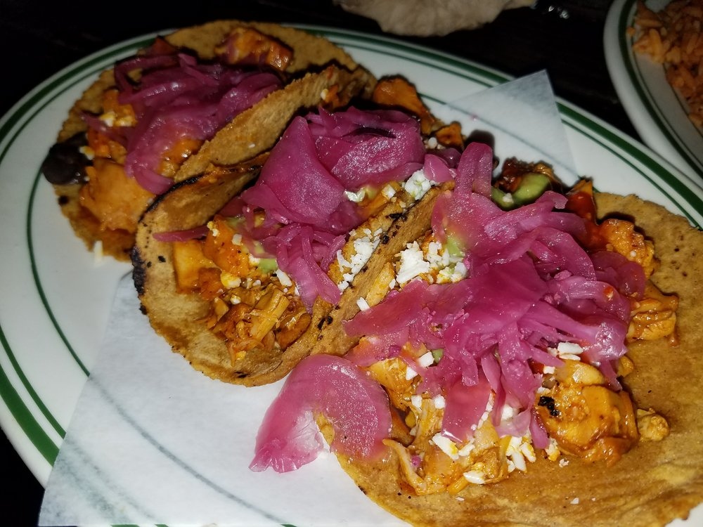 The namesake dish, Pink Tacos