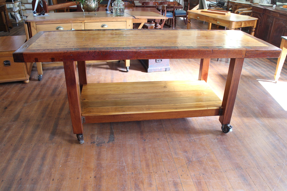 vintage industrial  kitchen island bench.jpg