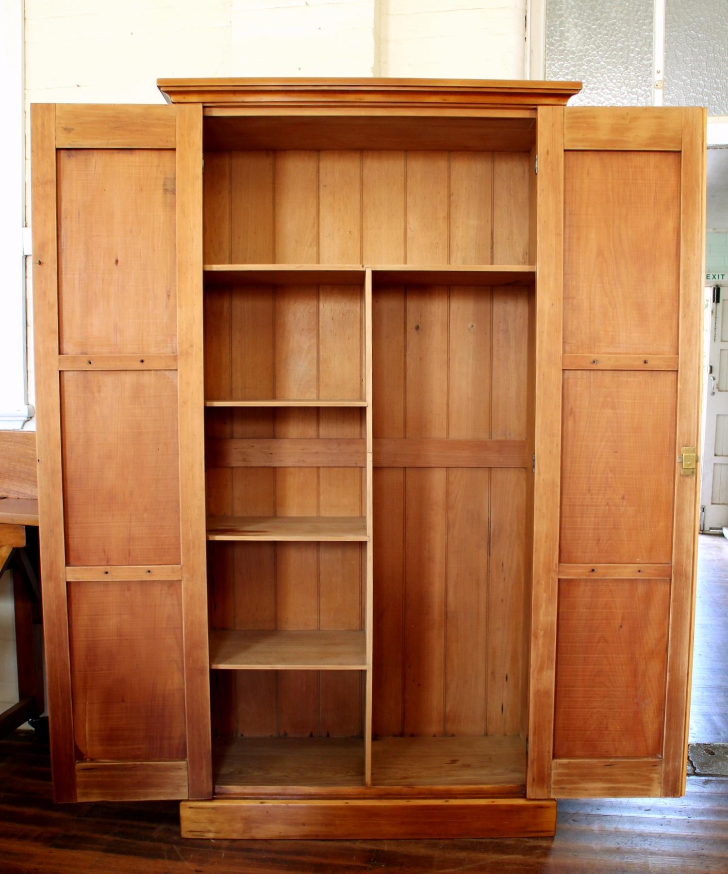 Antique Linen Cupboard.jpg - Antique Hoop Pine Linen Cupboard — Antiques Industrial Vintage